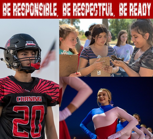 Be responsible, be respectful, be ready.